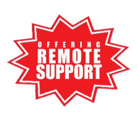 graphic that says 'offering remote support'
